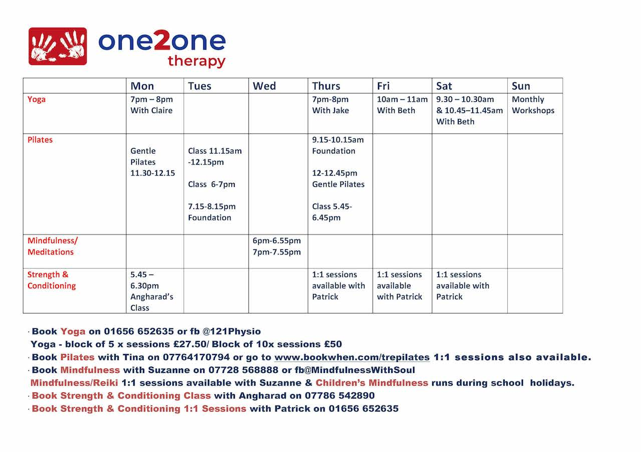 Class Timetable Aug 2019